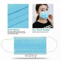 300 Pcs À Usage Unique Masque Facial Chirurgical Médical Dentaire 3-ply Earloop Bouche Couverture