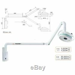 36w Mur Dentaire Médical Bâti Led Examen Chirurgical Lampe Shadowless Lumière Froide
