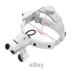 3.5x Dentaire Bandeau Chirurgical Verre Optique Médical Loupes Binoculaires Dy-106 Blanc