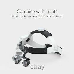 3.5x Loupes Dentaires Binoculaires 5with3w Led Head Light Medical Surgical Glasses