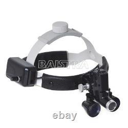 3.5x Médical Chirurgical Dentaire Phares Led Headband Binocular Loupes Noir