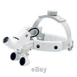 3.5x Médicale Chirurgicale Dentaire Loupes Binoculaires Bandeau Led Magnifier Phares