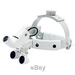 3.5x-r Bandeau Chirurgie Dentaire Médical Loupes Avec 5w Led Dy-106 Blanc