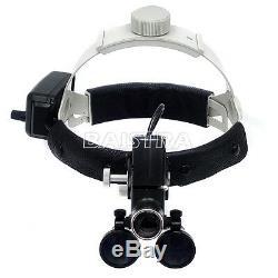 3.5x-r Medical Led Dental Lab Phares Bandeau Loupes Binoculaires Noir