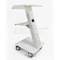 3 Couches En Métal Intégré Socket Outil Dental Lab Médical Chariot Mobile Chariot Ups