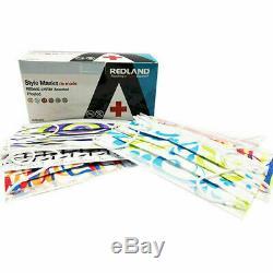 480 Earloop Visage Masque 3 Pli Niveau 2 Médico-chirurgical Dentaire Grippe Bfe 99,5% -fda