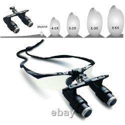 4.0x/5.0x/6,5x Magnificateur 420mm Verres Chirurgicaux Pour Soins Dentaires