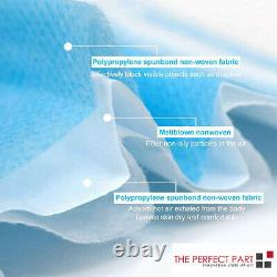5000 Pcs Masque Facial Chirurgical Médical Dentaire Jetable 3-plis Couvre-bouche Longuopole