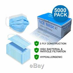 5000-pack Jetable Masque Chirurgical Industriel 3-ply Dentaire Médicale