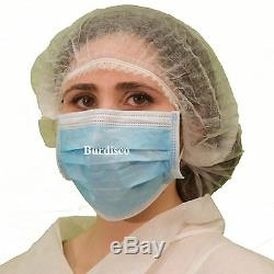 500 Jetable 3 Plis Earloop Allergy Visage Masques Dental Clou Masques Salon Medical