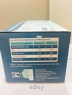 500 Pc / 10 Boîtes Bleu Primo Boucle Oreille Chirurgicale Dentaire Médical Masque Astm Niveau 1