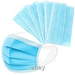 500 Pcs 4-ply Bleu Masque Facial Earloop Chirurgical Médical Dentaire Autorisee 3