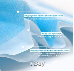 500 Pcs Médicaux À Usage Unique, Chirurgical, Dentaire 3layer Earloop Masque Bouche Couverture