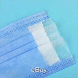 500 Pcs Visage Masque Chirurgical Médical Dentaire À Usage Unique 3-ply Earloop Bouche Couverture