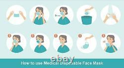 50/100/500 3 Ply Boucle D'oreille Masque Visage Masques Jetables Dentaires Chirurgicaux Non Médicaux