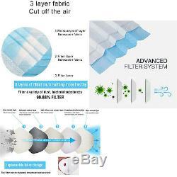 50 Pcs À Usage Unique Masque Facial Chirurgical Médical Dentaire Earloop Anti-poussière 3-ply