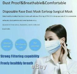 50pcs Duramask Jetable 3-ply Masques Chirurgicaux Visage Dentaire Industrielle Des États-unis Médicaux