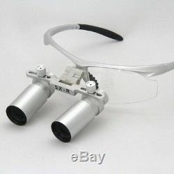 5,0x Médicale Loupes Dentiste Dentaire Loupe Binoculaire Loupe Glasse Microchirurgie