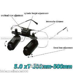 5 Chirurgie Dentaire X Loupes Loupe Dentiste Lunettes Binoculaires Médical 300-500mm