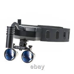 5w Dental Medical Headband Wireless Led Head Light Avec Loupes Jumelles 3.5x