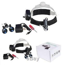 5w Led Chirurgicale Médicale Dentaire Phare Lampe Frontale + 3.5x420mm Loupes Loupe