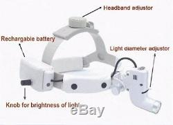 5w Led Chirurgicale Sans-fil Médical Dentaire Phares Tête Light + 2 Batteries