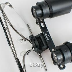 6.0x 6x 500mm Réglable Chirurgical Médical Dentaire Loupes Binoculaires Zooming Objectif