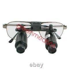 6.0x Lentille De Cadre Noir Titane Medical Surgical Dental Binocular Loupes Magnifer