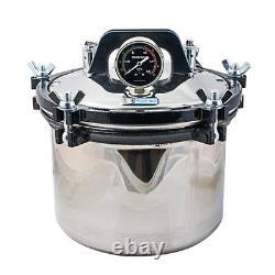 8l Dental Medical High-pressure Tank Saturated Steam Stérilisateur Double Chauffage Fda