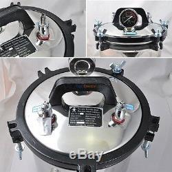 8l Portable Vapeur Autoclaves Stérilisateur Pour Seal En Acier Inoxydable Médical Dentaire