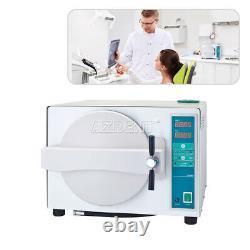 Autoclaves Dentaire Vapeur Stérilisateur Médical Sterilizition + Séchage Fonction 18l Us