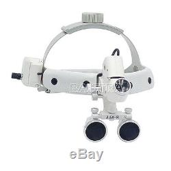 Bandeau Chirurgical Médical 3.5x Dentaire Dentaire Loupes Binoculaires Led Phares