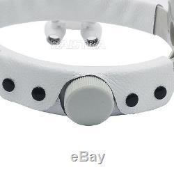 Bandeau Médico-chirurgical Dentaire Loupes Binoculaires Avec Led 3.5x-r Blanc