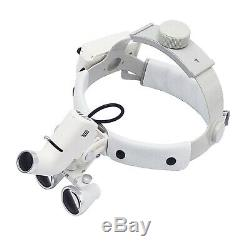 Bandeau Phare Avant De Chirurgie Dentaire Médicale Binocular 5w Led 3.5x Blanc