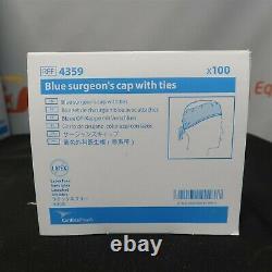 Cardinal Health Blue Medical Surgeons Caps Ties 4359 Restaurant Dental Case 600