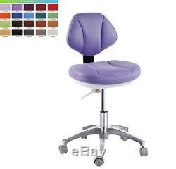 Chaise De Docteur En Cuir Microfibre Dentiste Dentaire Médical Tabouret Chaise Mobile