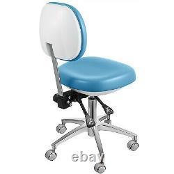 Chaise De Médecine Dentaire Tabouret Réglable Bleu Dossier Hauteur Bureau 360 Degrés