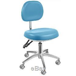 Chaise Dentaire Médical Tabouret Réglable En Cuir Pu Bleu Dossier Bureau Ergonomique