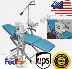 Chaise Pliante Médicale Dentaire Turbine Portable Rinçant Le Système D'approvisionnement En Eau+led