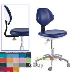Chaise Réglable Laboratoire Dentaire Mobile Dentiste Médicale Infirmière Docteur Tabouret En Cuir Pu