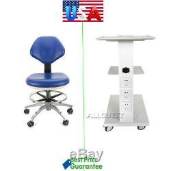 Chariot Médical Dentaire Intégré Socket Panier / Doctor Tabouret Réglable Chaise Mobile