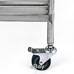 Chariot Médical Panier 2 Tiroirs Portable Dental Lab Chariot Salon En Acier Inoxydable