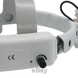 Chirurgie Dentaire Bandeau Médicale Loupe Binoculaire 3.5x Avec Led 5w Ce Blanc