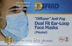 Défendez Chirurgicale 3-ply Jetable Visage Dentaire Médical Masques 50 / Box, Navire De Etats-unis