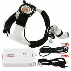 Dentaire 3w Led Chirurgicale Phare Médicale Head Light Ac / DC Lampe Kd-202a-3 Ce