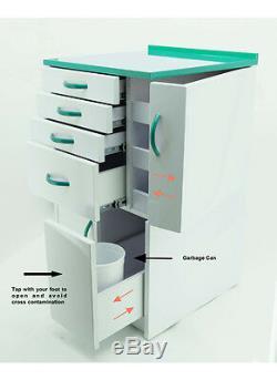 Dentaire Medical Mobile Cabinet Cart Multifonctionnel Tiroirs Avec Roulettes Vert Petit