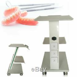 Dentaire Mobile Chariot Médical Panier Salon Équipement Trois Couches À Pied De Frein
