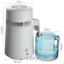 Dental 4l / Médical Eau Pure Distiller Purificateur Filtre En Acier Inoxydable 220 V