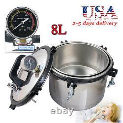 Dental 8l High Pressure Steam Autoclave Stérilisateur Pot Medical Sterilization Lab