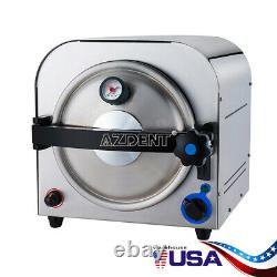 Dental Autoclave Steam Sterilizer Vacuum Lab Équipement Medical Inox 14l
